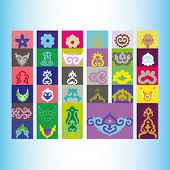 picture of tatar  - Tatar ornament motif  - JPG