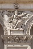 LONDON, UK - MAY 14, 2014: Symbol of Europe. Decorative element Government building, Parliament s