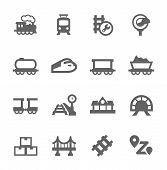 picture of passenger train  - Simple Set of Trains Related Vector Icons for Your Design - JPG