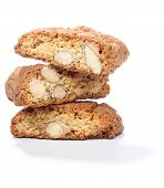 Stack Of Cantuccini Cookies With Almond