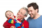 Three Generations: Grandfather, Father And Son