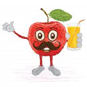 Red Apple Mustache