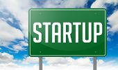 Startup on Highway Signpost.