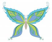 Symbolical colorful butterfly