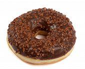 Brown Chocolate Donut With Sugar Sprinkles