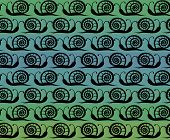 Seamless pattern with snails
