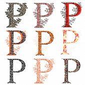 Various Combination Fishnet Letter P.