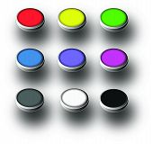 Set of web coloured buttons vector