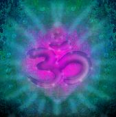 picture of om  - om aum symbol on a grunge texture  - JPG