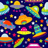 Ufo Cartoon Seamless