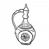 Antique jug, vector sketch illustration