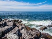 View From The Rock Jetty At Ocean Shores Washington Usa
