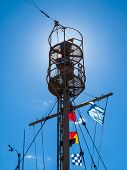 Columbia Lightship Main Light With Nautical Flags Hanging