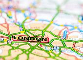 Close-up On London City On Map, Travel Destination Concept