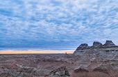 Sunrise Near Big Badlands Overllook National Park South Dakota