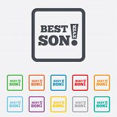 Best son ever sign icon. Award symbol.