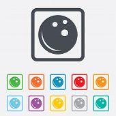 Bowling ball sign icon. Bowl symbol.