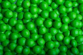 Background of coated green candy