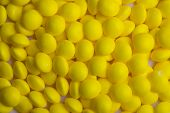 Background of coated yellow candy