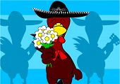 mexican chicken mariachi background7