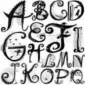 Curly Playful Alphabet - A To Q