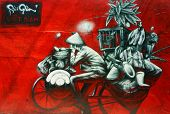Beautiful, Colorful Graffiti Art, Vietnam Street