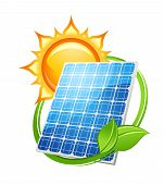 Solar energy and power concept