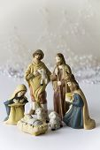 Light Nativity Scene