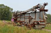 Vintage Threshing Machine