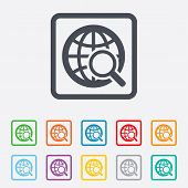 Global search sign icon. World globe symbol.