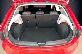 empty car trunk
