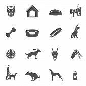 Dog icons black