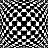 Design Monochrome Warped Grid Pattern