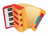 picture of accordion  - Vector illustration of an accordion in cartoon style - JPG