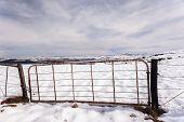 Gate Fence Mountains Snow