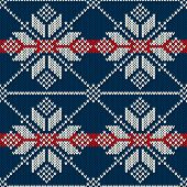 Seamless Knitting Pattern. Winter Holiday Sweater Design