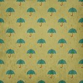 Umbrella Seamless Pattern  Background