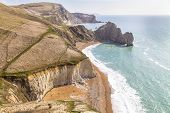 Dorset Coast, England, Overlooking Durdle Door