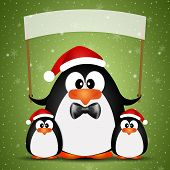 Penguins family at Christmas