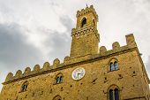 Palace Of Priori In Volterra, Italy Town
