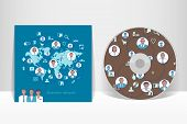 Cd Cover Design Template. Business network