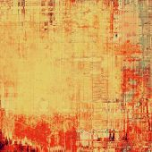 Old background or texture. With different color patterns: yellow, brown, red, orange