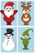 christmas cartoon characters design