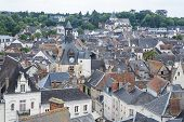 Aerial View of Amboise Cityscape France