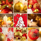 Set of Christmas Red and Golden  Backgrounds - big size