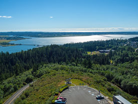 pic of coxcomb  - A View of the Astoria Oregon Area from Coxcomb Hill the Location of the Astoria Column - JPG