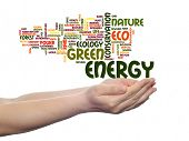 stock photo of environmentally friendly  - Concept or conceptual abstract green ecology - JPG