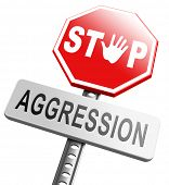 pic of stop fighting  - stop verbal or physical aggression - JPG