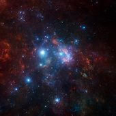 image of nebula  - space scene with stars and nebula - JPG