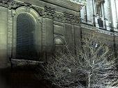 Mysterious building, city center, London